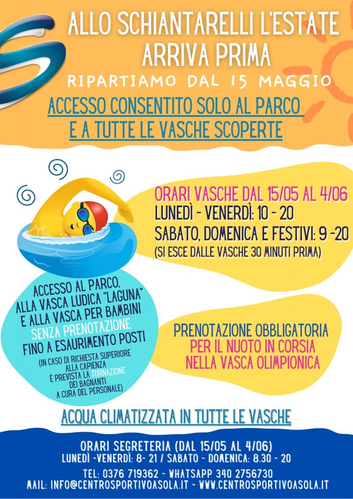 Schiantarelli locandina apertura maggio 2021