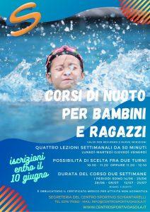 Ripresa Corsi nuoto giugno 2021