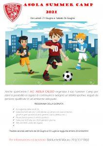 ASOLA CALCIO SUMMER CAMP 2021