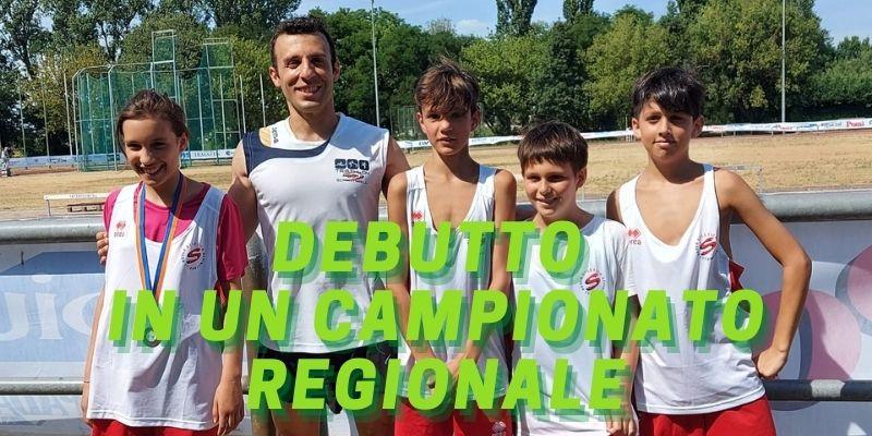 Banner debutto atletica in campionato regionale