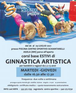 Locandina Corso luglio ginnastica artistica
