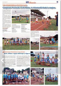 pagina atletica Gazzetta di Mantova