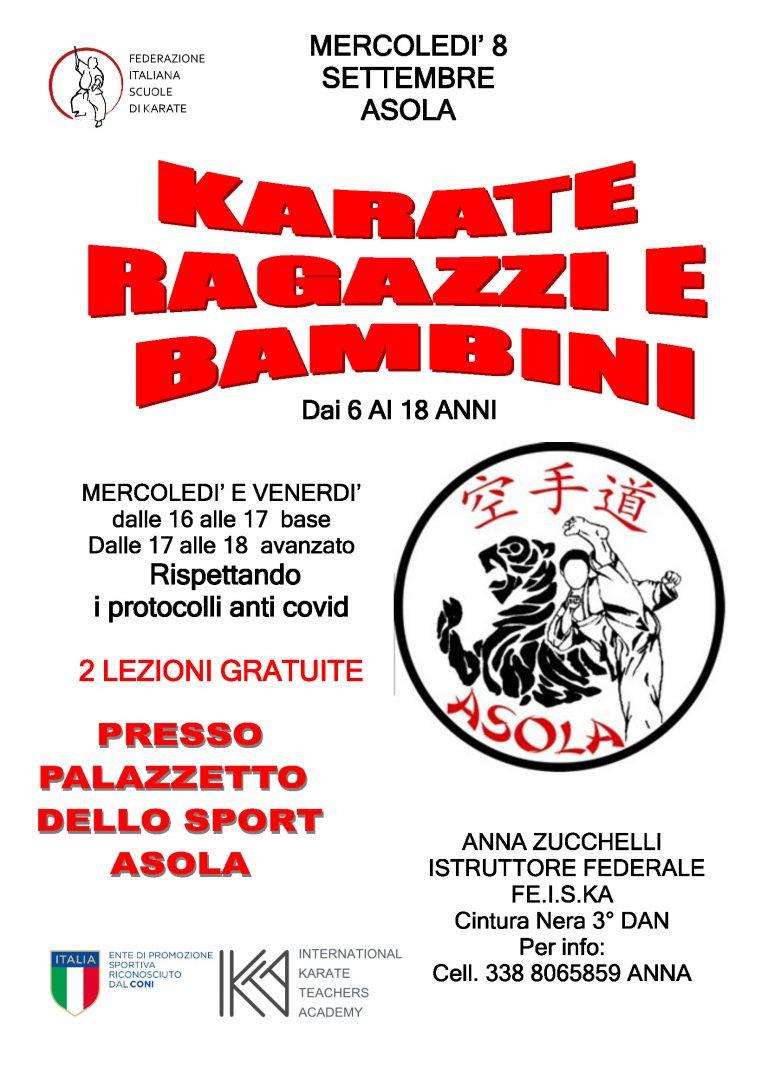 Karate Do volantino corso bambini