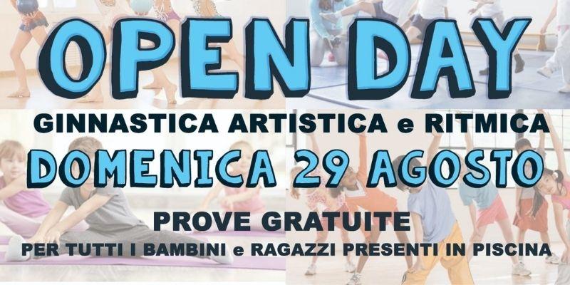 Banner open day ginnastica artistica