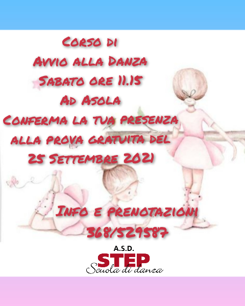 Step corso 2021 avvio alla danza
