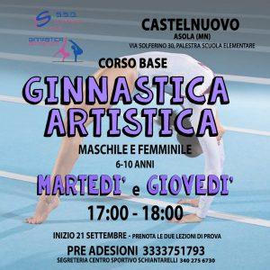 Corsi Ginnastica Artistica 2021