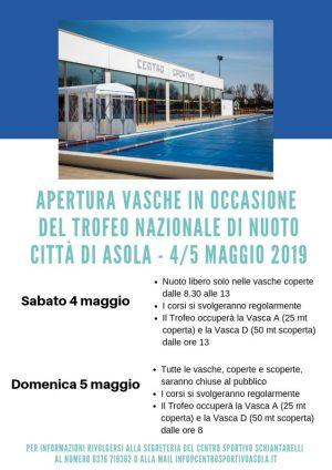 Chiusura vasche Trofeo 2019